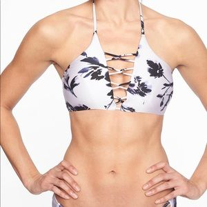 Athleta Aqualuxe Print Loop Bikini Top NWT